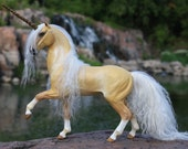 Custom OOAK Fantasy Horse or Unicorn Sculpture 7 Inch Size