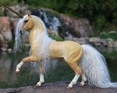 Custom OOAK Fantasy Horse or Unicorn Sculpture 8 Inch Size