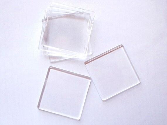 20 Premium Clear Large Square Glass Tiles