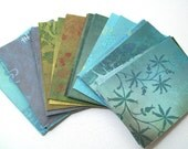 ATC ACEO Sized Paper - Blue - Pack of 36, Collage, Mixed Media, Backgrounds - Destash