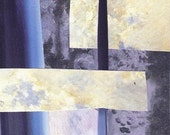 Blue Abstract No. 1 - an Original Collage - ACEO - Art Card