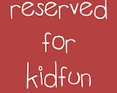 RESERVED FOR KIDFUN - Custom fairy portrait