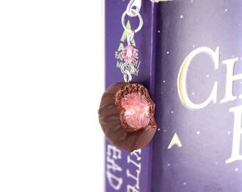 Scented Cherry Chocolate Truffle Bookmark Polymer Clay Cute Miniature Book Accessories Present