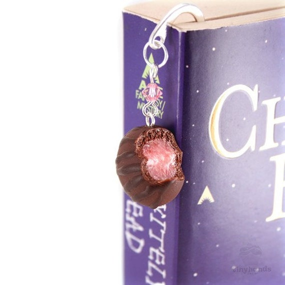Scented Cherry Chocolate Truffle Bookmark Polymer Clay Cute Miniature Book Accessories Present