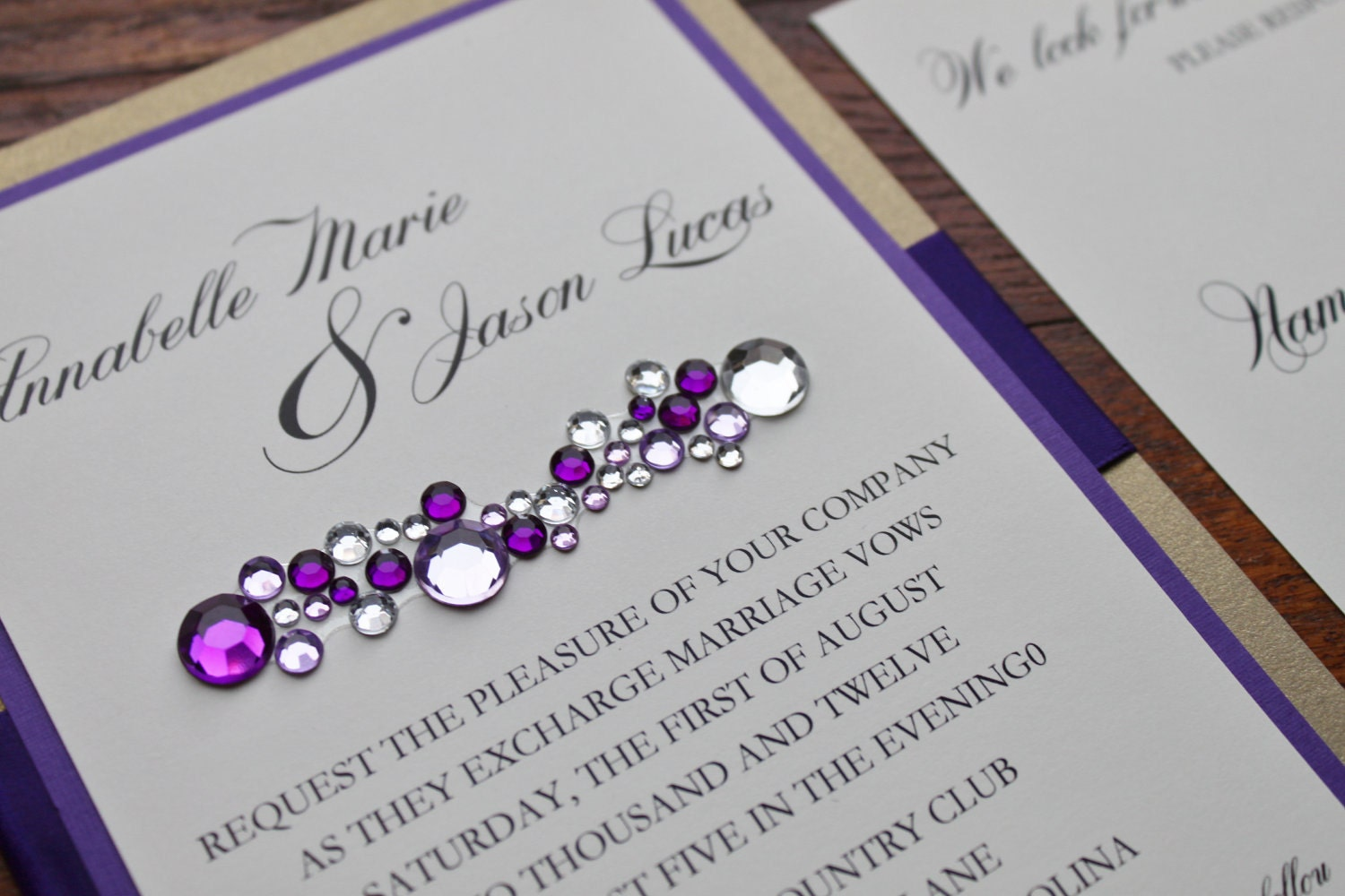 Bling Wedding Invitations: Glamorous Wedding Invitation Clustered Crystal By