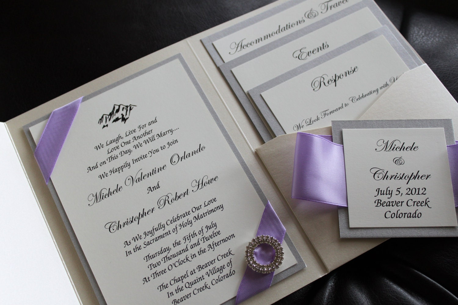opulence wedding invitation pocket invitation by decadentdesigns