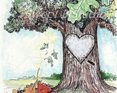 We Will Be Together Oak Tree Personalized Print  8 x 10