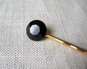 Black Rhinestone Bobby Pin, Black Crystal Hair Pin, Jewel Bobby Pin - Mix and Match