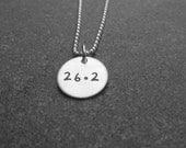 Marathon 26. 2  Necklace Hand Stamped Jewelry Running Necklace Ready to ship