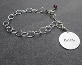 Hand Stamped Personalized Jewelry Build Your Own Keepsake Bracelet Sterling Silver Charm Bracelet Anniversary Gift Mother's Day
