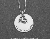 I Love You More Necklace I Love You More Jewelry Sterling Silver Anniversary Gift Hand Stamped Jewelry Gift Mom Gift Grandma