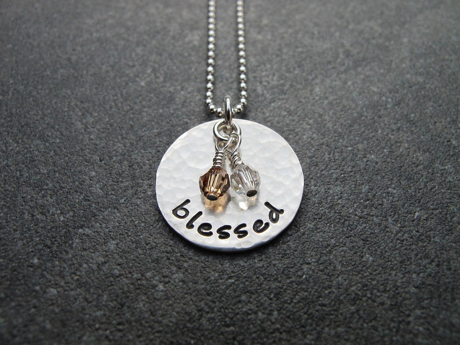 sted jewelry blessed necklace by klacustomcreations