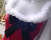 red N black SEXY SANTA mrs claus CHRISTMAS boned bustier 34 - 36 inch bust
