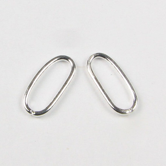 Bright Bali Sterling Silver Smooth Oval Open Jump Rings (10 beads) LAST SET