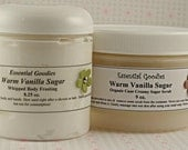 Warm Vanilla Sugar - Body Frosting and Creamy Scrub Duo - Makes an excellent Gift