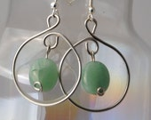Jade Hoop Earrings