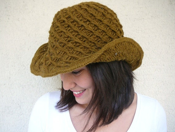 Wool Playful Hat - Olive Green