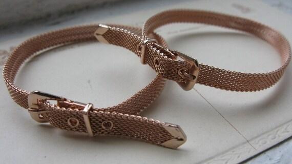 Pink Gold Vermeil Mesh Belt Bracelets, limited edition