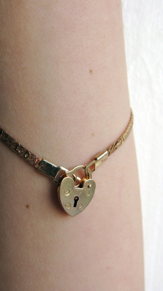 I Love You Chain with Heart Lock Bracelet
