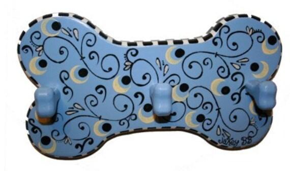 Blue Swirl Leash Hook