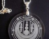 Crop Circle Acrylic Pendant - Windmill Hill Wiltshire 2009