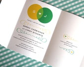 Venn Diagram Seal and Send Tri-Fold Wedding Invitation