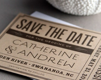 VintageTicket Save-the-Date