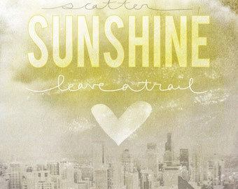 Scatter Sunshine- Beautifully textured cotton canvas art print. Order as an 8x10 11x14 or 16x20 size.