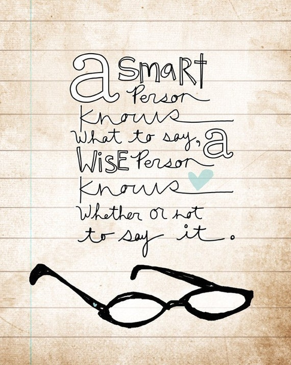 a smart person- Beautifully textured cotton canvas art print. Order as an 8x10 11x14 or 16x20 size.