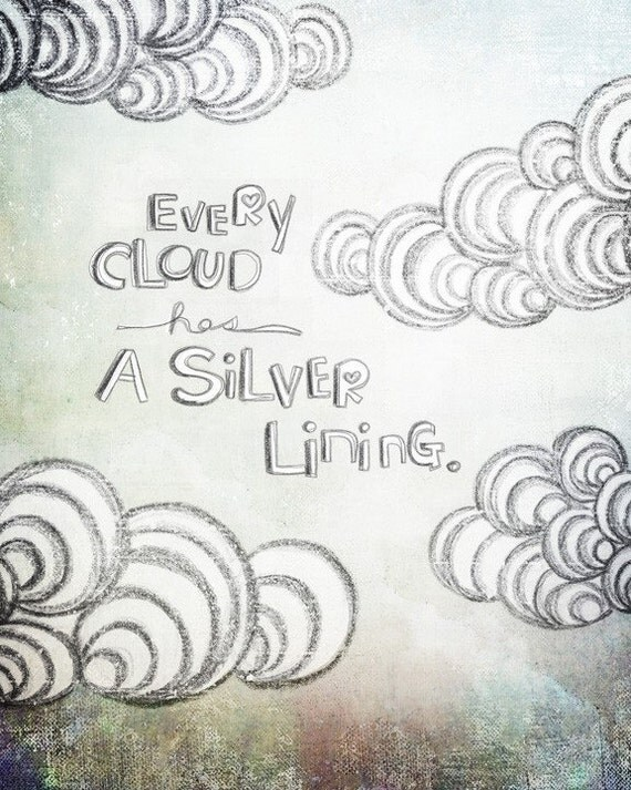 Every cloud- Beautifully textured cotton canvas art print. Order as an 8x10 11x14 or 16x20 size.