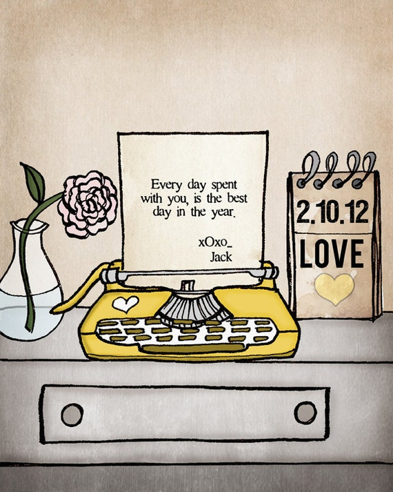 CUSTOMIZE Your Own Typewriter Message & choose your color