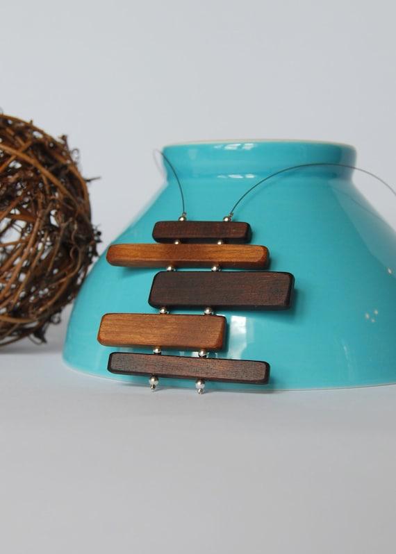 Minimalist wood necklace - Funky 25