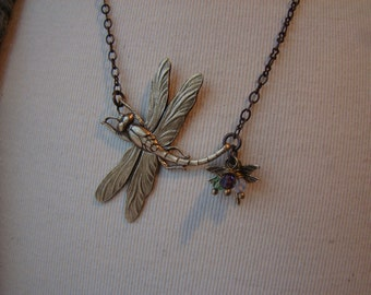 Mothers Dragonfly Necklace
