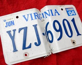 Virginia license plate photo album