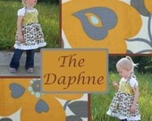 Daphne PDF sewing pattern   A top that is Spunky and Sweet and Oh so cute Size 12 months to 6T