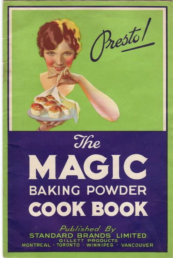 Vintage Cookbook 1930s The Magic Baking Powder Cookbook