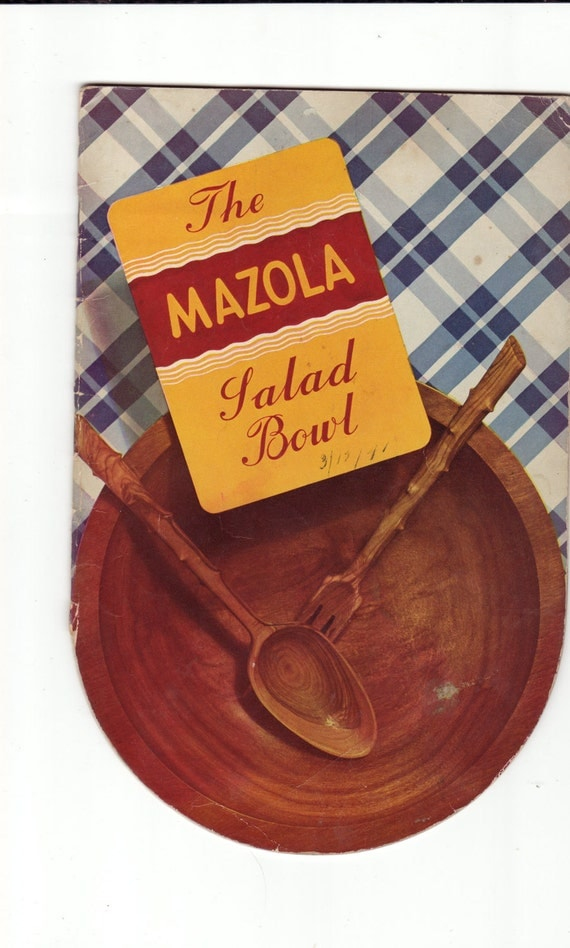 Vintage Cookbook 1940s The Mazola Salad Bowl