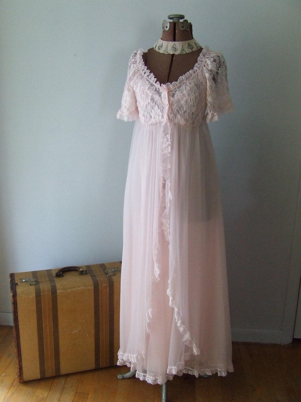 Vintage Tosca Lingerie Pink Chiffon By Stilettogirlvintage