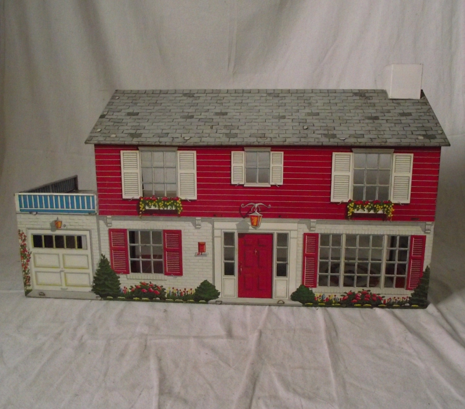 1960s marx metal doll house two story by stilettogirlvintage