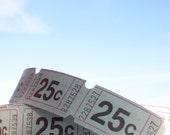 Sky blue carnival tickets