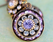 RESERVED for Robyn: Acknowledge Your Inner Purple, crystal earrings, ideal for every day or for special occasions, bridesmaids, weddings