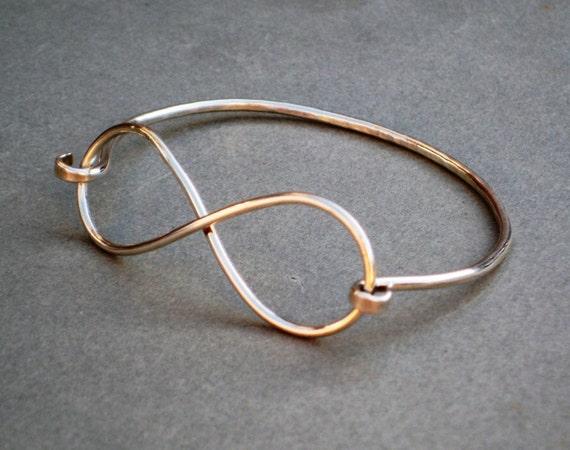 Infinity Hook-On Cuff Bangle