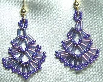 Delicate Hand-woven Fan Earrings