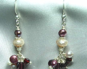 Sale!!! Victorian romance gorgeous pearls and garnets