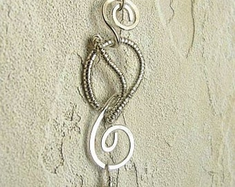 OOAK handmade Sterling & vintage Swarovski pendant - giggle series