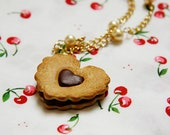 Sweet Lolita Chocolate Valentine Heart Cookie Necklace