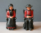 Cast Iron Rare Amish Salt and Pepper Shakers