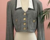 Sandra Ow-wing Vintage Cropped Blazer