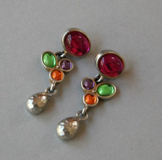 VINTAGE - Multi Color Dangle Earrings