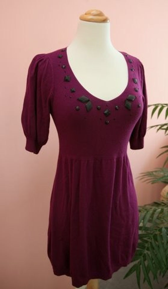 15 DOLLAR SALE - Plum Knit Top